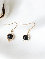 Stud Earrings Euramerican Fashion Resin Alloy Circle Black Jewelry For Daily 1 Pair