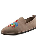 Men's Loafers & Slip-Ons Spring Fall Comfort PU Outdoor Casual Animal Print Black Beige Khaki