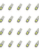 20Pcs T10 5*5050 SMD LED Car Light Bulb White Light DC12V