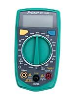 Prokits® mt-1233d-c multimètre numérique auto-mesure ohm / volt test mètre multi testeur avec rétro-éclairage lcd affichage
