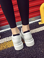 Women's Flats Spring Creepers PU Casual White