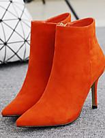 Damen-Stiefel-Outddor Lässig-Leder-Stöckelabsatz-Komfort-