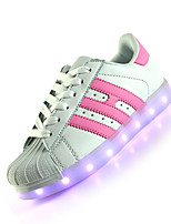 Women's Sneakers Summer Fall Light Up Shoes Leather Casual Flat Heel LED