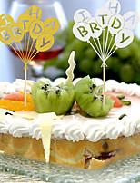 Dětská strana zásoby dort vlajka narozeninový dort vložený karty dětské narozeninové potřeby dort výzdoba balón barva náhodná