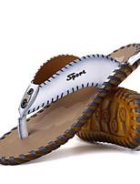 Men's Slippers & Flip-Flops Summer Comfort Cowhide Casual