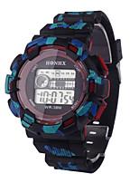 Hombre Reloj Deportivo Reloj digital Chino Digital Silicona Banda Negro