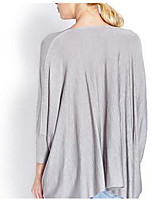 Women's Simple Blouse,Solid V Neck Long Sleeve Cotton