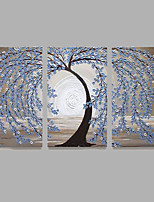 Hand-Painted Modern Tree Oil Painting Three Panel Canvas Oil Painting Multi Split Oil Painting