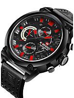 NAVIFORCE Men's Sport Watch Fashion Watch Wrist watch Casual Watch Quartz Calendar Dual Time Zones PU Band Luxury Cool Unique Watches