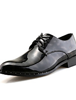 Men's Oxfords Spring Fall Formal Shoes Comfort Leather Wedding Office & Career Party & Evening Flat Heel Black Blue Red