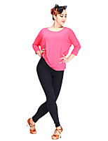 Latin Dance Tops Women's Performance Modal 1 Piece 3/4 Length Sleeve Top