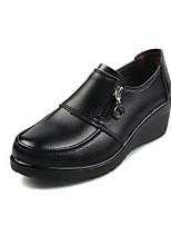 Черный Оранжевый Вино-Для женщин-Повседневный-Свиная кожа-На танкетке-Удобная обувь-Мокасины и Свитер