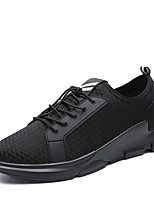 Men's Sneakers Spring Summer Comfort Tulle Outdoor Athletic Casual Hiking Flat Heel Gore Black/White Gray Black