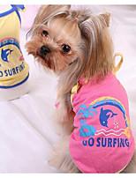 Собаки Футболка Одежда для собак Милые Мода Принцесса Желтый Розовый