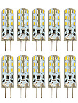 HKV® 10 Pcs G4 2W 24 SMD 3014 100-200 lm Warm White Cool White LED Bi-pin Lights DC 12 V