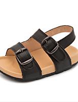 Kids' Baby Sandals First Walkers Cowhide Summer Casual First Walkers Flat Heel White Black Flat