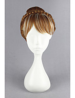 Short Frozen-Anna Brown%White Mixed Synthetic 12inch Anime Cosplay Wig CS-179B