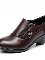 Chaussures de sport pour femmes Ressort confort cuir de vache nappa cuir décontracté