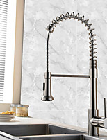 Contemporary Art Deco/Retro Modern Pull-out/Pull-down Vessel Widespread Pullout Spray with  Ceramic Valve Single Handle One Hole for  Kichen Faucets