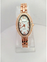 Women's Women Fashion Watch Bracelet Watch Quartz Alloy Band Casual Rose Gold