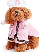 Dog Costume Dog Clothes Winter Solid Cute Fashion Casual/Daily Black