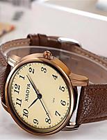 Mulheres Relógio de Moda Quartzo Couro Banda Marrom
