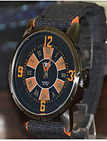 Мужской Модные часы Кварцевый Материал Группа Черный
