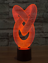 Abstract 6 7 Colour Gradient 3 D Light LED Acrylic  Touch Lamps  Projection Lamp