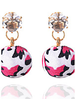 3 Colors New Bohemia Fashion Sexy Rhinestone Leopard Ball Drop Earrings For Women Statement Fine Jewelry Accessories brincos