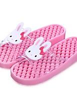Damen-Slippers & Flip-Flops-Lässig-Gummi-Flacher Absatz-Fersenriemen-
