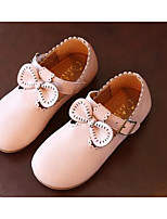 Girls' Flats Spring Fall Comfort First Walkers PU Outdoor Casual Walking Low Heel Magic Tape Blushing Pink Gray Beige