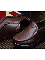 Mocassins masculins&Bureau de la peau de porc confort confort&Carrière brun jaune noir