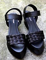 Белый Черный-Для женщин-Повседневный-ПолиуретанСветодиодные подошвы-Мокасины и Свитер