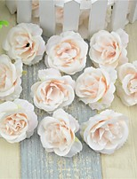 10Pcs/Set 12Cm  Artificial Flowers Silk Roses Heads For Wedding Decoration Party Fake Scrapbooking Floral Wreath Home Accessories