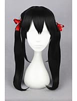 Средний love live! -yazawa nico черный 20inch аниме костюмированная игра конский хвост парик cs-181f
