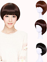 Short Straight Black Women Bob Synthetic Wig Fiber Cheap Cosplay Party Hair