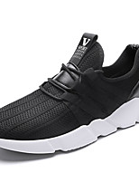 Men's Sneakers Spring Fall Winter Comfort Patent Leather Outdoor Office & Career Casual Flat Heel Black