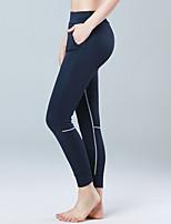 Damen Laufen Strumpfhosen/Lange Radhose Hohe Atmungsaktivität (>15,001g) Push-Up Hosen Videokompression Leichtes Material Komfortabel