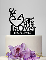 Personalized Acrylic The Hunt Is Over Wedding Cake Topper