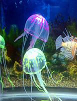 Aquarium Decoration Ornament Jellyfish Noiseless Non-toxic & Tasteless Artificial Adjustable Silicone Random Color