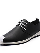 Men's Sneakers Comfort Microfibre Spring Summer Casual Outdoor Office & Career Comfort Lace-up Flat Heel White Black Flat