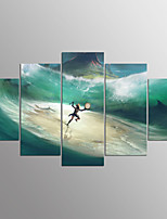 Stretched Canvas Print Fantasy Modern,Five Panels Canvas Any Shape Print Wall Decor For Home Decoration