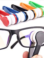1Pcs  Hot Sell Mini Portable Glasses Eyeglass Sunglasses Spectacles Microfiber Cleaner Brushes Random Color