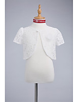 Kids' Wraps Shrugs Lace Wedding Party/Evening Button Lace
