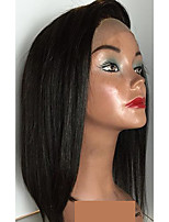 Short Straight Human Hair Wigs With Baby Hair Natural Hairline Unprocessed Lace Front Wigs For Black Women