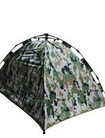 2 человека Световой тент Двойная Автоматический тент Однокомнатная Палатка 1500-2000 мм Стекловолокно Оксфорд Водонепроницаемый Переносной