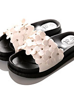 Feminino-Chinelos e flip-flops-Chanel-Rasteiro-Branco Preto Rosa claro-Borracha-Casual