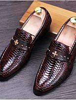 Мужской спортивные туфли весна комфорт кожа лакированная кожа casual бордовый голубой чёрный