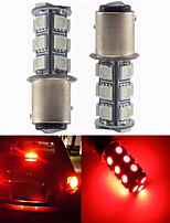2Pcs 1157 18*5050 SMD LED Car Light Lulb Red Light DC12V