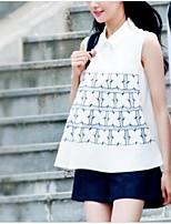 Damen einfarbig Einfach Lässig/Alltäglich Bluse Rock Anzüge,Rundhalsausschnitt Sommer 1/2 Ärmel Mikro-elastisch